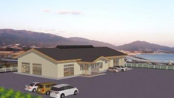 高台に移転する気仙公民館の完成イメージ(陸前高田市提供)