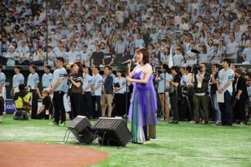 「鷹の祭典2019in東京ドーム」で初の国歌独唱を行った大原櫻子さん