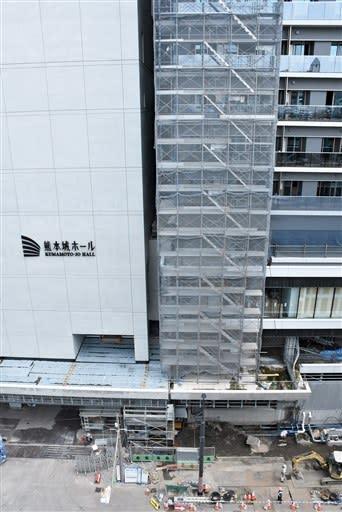 火災があった熊本市中央区の桜町再開発ビル