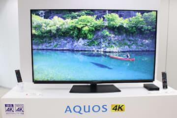 7月27日に発売するシャープ60V型4K対応液晶テレビ「AQUOS 4K(4T-C60BN1)」