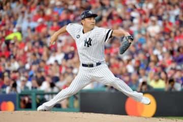 MLBオールスターでア・リーグ二番手として登板したヤンキース・田中将大【写真:Getty Images】