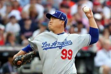 MLBオールスターで先発投手を務めたドジャース・柳賢振【写真:Getty Images】