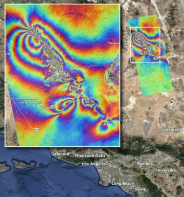 NASAが行ったカラーマッピング。(c) NASA/JPL-Caltech