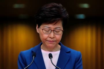 Carrie Lam. File photo: Tyrone Siu/Reuters.