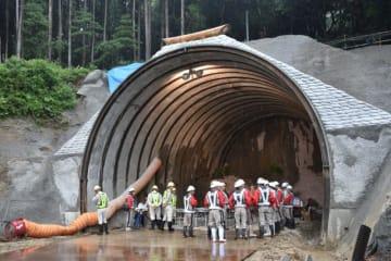 本格的な掘削工事が始まった藤トンネル