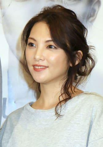 舞台「美しく青く」の初日前会見に登場した田中麗奈さん
