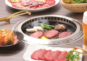 多くの焼き肉店が採用するシンポの無煙ロースター