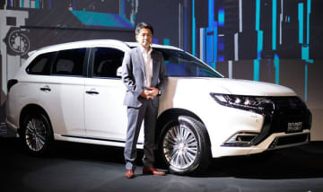 Mitsubishi Motors Corp. announces the planned launch of its flagship plug-in hybrid sport utility vehicle Outlander in Indonesia later this year at an event in Jakarta presided over by Naoya Nakamura, president director of the automaker's local sales