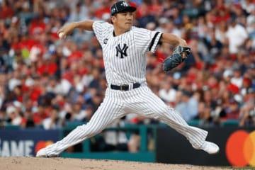 オールスターで勝利投手となったヤンキース・田中将大【写真:AP】