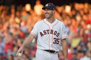 MLBオールスターに出場したアストロズのジャスティン・バーランダー【写真:Getty Images】