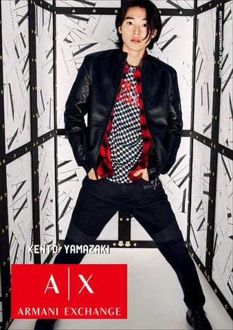 山崎賢人さんを起用した「A|X アルマーニ エクスチェンジ」2019年秋冬の広告キャンペーンビジュアル