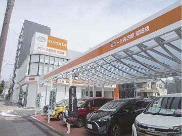 トヨタ直営2社を買収するトヨタカローラ名古屋の店舗