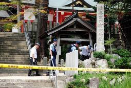 5人殺傷事件が起きた現場付近。地域や関係者に大きな影響を及ぼした=2017年7月16日、神戸市北区有野町有野