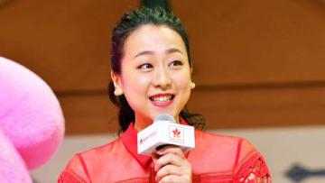 テーマパーク「おやつタウン」の開業記念発表会に出席した浅田真央さん