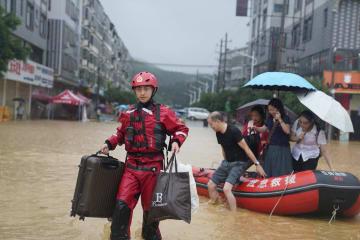 広西チワン族自治区北部で再び豪雨、永福県の2万人超が被災