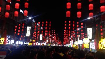 (図1)中国・旧正月のちょうちん風景