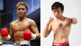 イノベーション×シュートボクシング対抗戦の両大将、与座優貴(左)とイモト・ボルケーノ