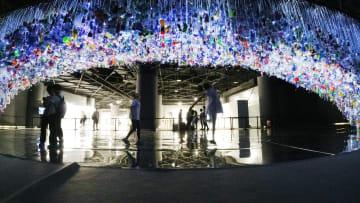プラごみで芸術作品 環境保護訴える 上海