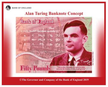 英中央銀行イングランド銀行が公表した新たな50ポンド紙幣のデザイン