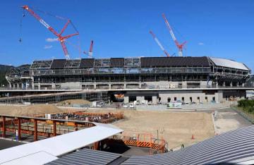 【資料写真】建設中の京都スタジアム