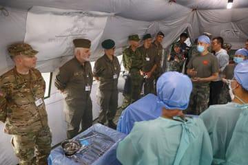 中独両国の衛生部隊、「合同救援2019」を実施