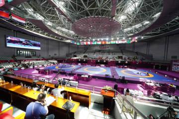 今年4月にアジア選手権が開催された西安の会場=撮影・UWWオフィシャルカメラマン・保高幸子(注=アジア予選がこの会場かどうかは不明です)