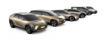 トヨタが展開する電気自動車のイメージ。(画像 :トヨタ自動車の発表資料より)