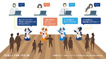 接客ロボットによる実証実験のイメージ