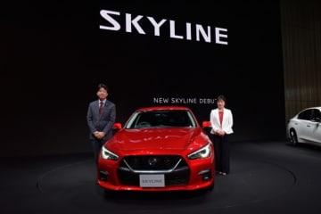 日産の新型「スカイライン」。(画像: 日産自動車の発表資料より)