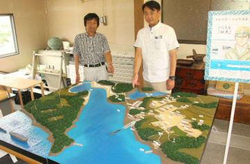 回天基地の模型制作に携わった県建築士会別府支部の会員
