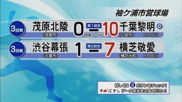 夏の高校野球千葉大会 7月17日試合結果(3回戦・袖ケ浦市営球場)