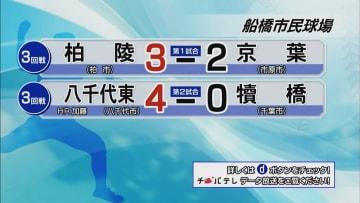 夏の高校野球千葉大会 7月17日試合結果(3回戦・船橋市民球場)