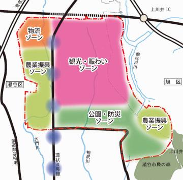 土地利用のゾーン案※市より提供