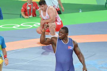 リオデジャネイロでオリンピック3連覇を達成したミハイン・ロペス(キューバ)