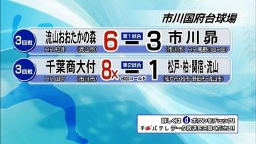 夏の高校野球千葉大会 7月18日試合結果(3回戦・市川国府台球場)