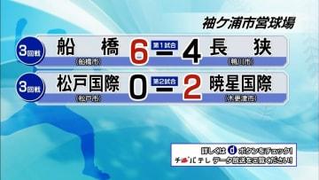 夏の高校野球千葉大会 7月18日試合結果(3回戦・袖ケ浦市営球場)