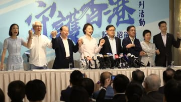 Kennedy Wong (fourth from right). Photo: inmediahk.net.