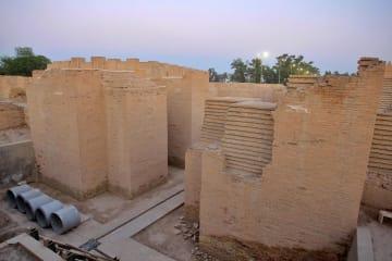 世界遺産登録が決まったイラクのバビロン遺跡=5日(AP=共同)