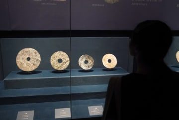 良渚文化の玉器を一堂に展示 北京・故宮博物院で特別展