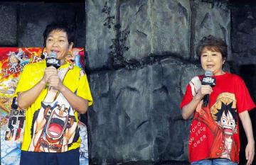 イベントに登場した山口勝平さん(左)と田中真弓さん