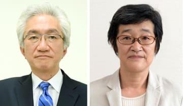 自民・西田昌司氏(左)、共産・倉林明子氏