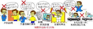 (岡山市選挙管理委員会「選挙後のあいさつ行為の制限」より引用)