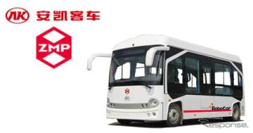 RoboCar Mini EV Busベースの自動運転小型バス
