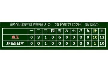 東芝がJFE西日本を下し4強進出