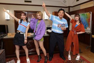 SKE48 古畑奈和、高柳明音、熊崎晴香、河村たかし名古屋市長と新曲を一緒にダンス!