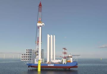 清水建設が建造に乗り出す作業船のイメージ