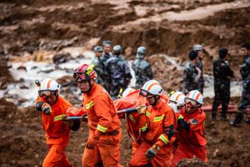 貴州省水城県で地滑り 死者が11人に