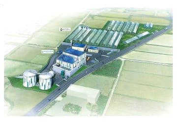 ビオクラシックス半田のバイオガス発電所とにじまちの植物工場プロジェクトのイメージ図