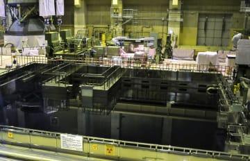 東京電力福島第2原発4号機の使用済み核燃料プール=6月18日