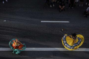 パウリスタ通りのアーティスト ブラジル・サンパウロ